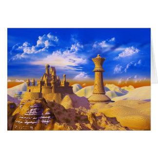 Schach-Schloss Grußkarte