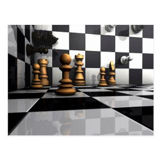 Schach-Spiel-König Postkarte