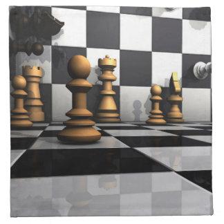 Schach-Spiel-König Serviette
