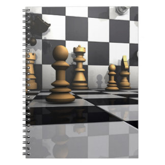 Schach-Spiel-König Spiral Notizblock