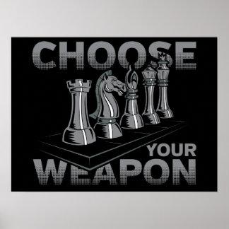 Schach-Spiel wählen Ihre Waffe Poster