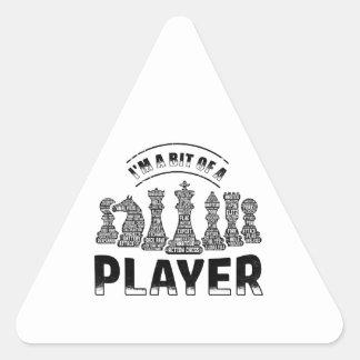 Schach-Spieler Dreieckiger Aufkleber