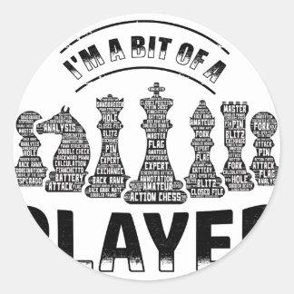 Schach-Spieler Runder Aufkleber