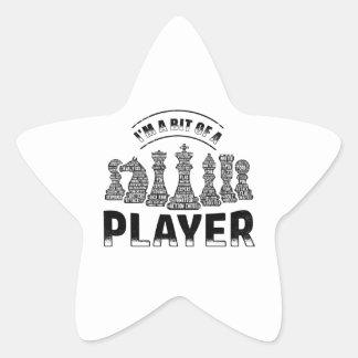 Schach-Spieler Stern-Aufkleber