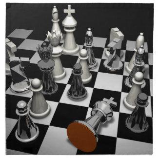 Schach Stoffserviette