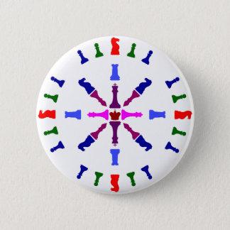 Schach-Stück-Entwurf Runder Button 5,7 Cm