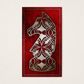 Schach-Stück - roter Ritter Visitenkarte