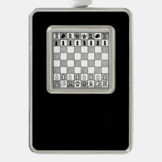 Schach-Stück-Weihnachtsverzierung Rahmen-Ornament Silber