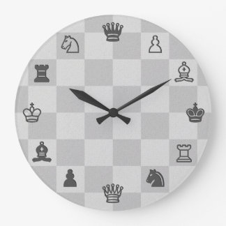 Schach-Uhr Große Wanduhr