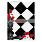 Schach und Rosen-gotische Hochzeit Karte