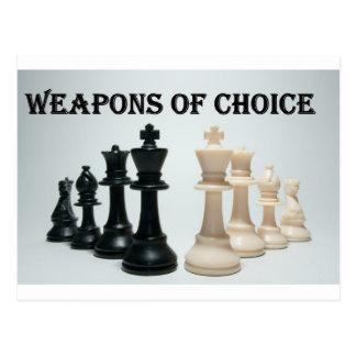 Schach - Waffen der Wahl Postkarte