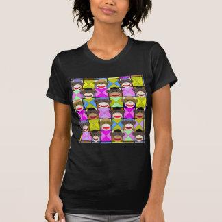 Schachbrett-Affen T-Shirt