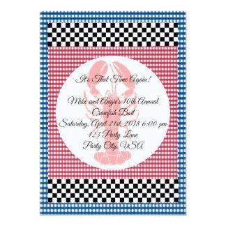 Schachbrett-blaues und rotes karte