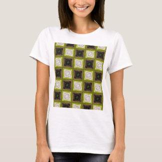 Schachbrett-Brett-Muster T-Shirt