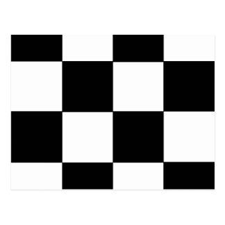 SCHACHBRETT! (ein quadratischer Fliesenentwurf) ~ Postkarte