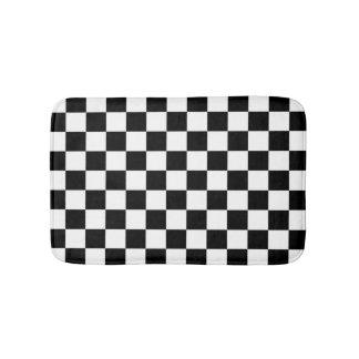 Schachbrett-Flagge Badematte