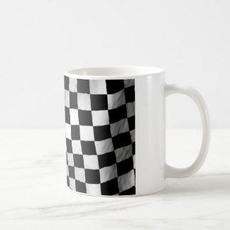 Schachbrett-Flagge Kaffeetasse
