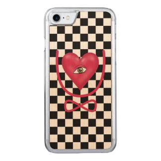 Schachbrett-Liebe mustern Sie für immer Ewigkeit Carved iPhone 8/7 Hülle