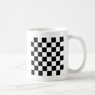 Schachbrett-Muster Kaffeetasse