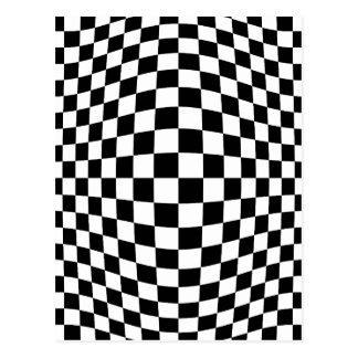 Schachbrett-optische Täuschung Postkarte