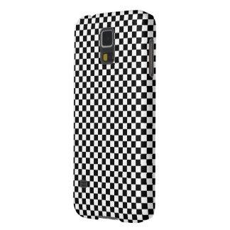 Schachbrett-quadratische Illusion Schwarzweiss Samsung S5 Hüllen