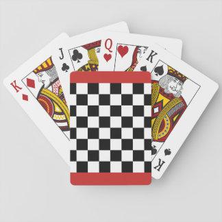Schachbrett-Schach-Brett-Spielkarten Spielkarten
