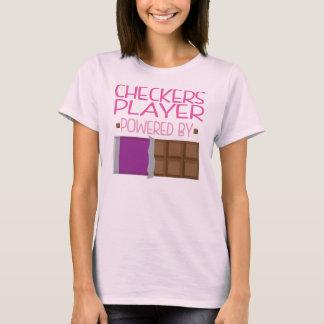 Schachbrett-Spieler-Schokoladen-Geschenk für Frau T-Shirt