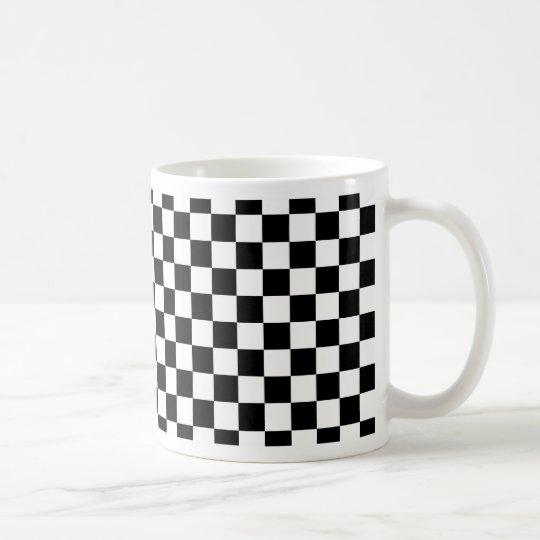 Schachbrettmuster Kaffeetasse