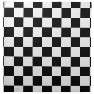 Schachbrettmuster Schwarzweiss Serviette