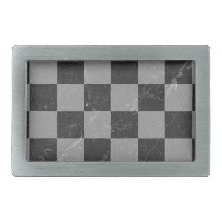 Schachmuster Rechteckige Gürtelschnalle
