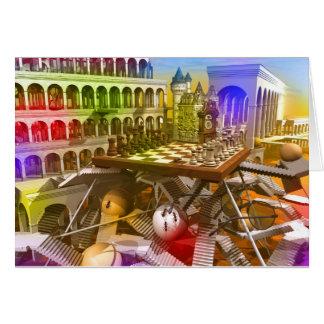 Schachspiel die Königin Grußkarte