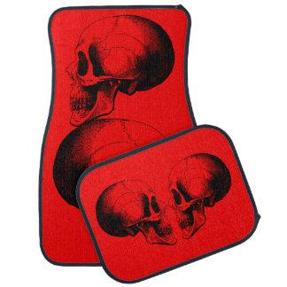 Schädel-Auto-Boden-Matten (volles Set) Autofußmatte