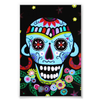 Schädel Azteca Dia de Los Muertos Native Kunstfoto