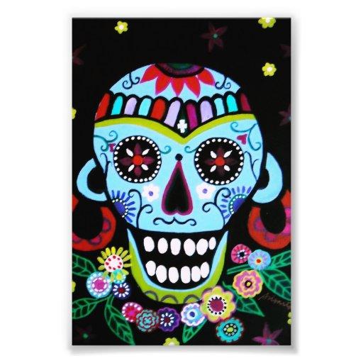 Schädel Azteca Dia de Los Muertos Native Foto Druck
