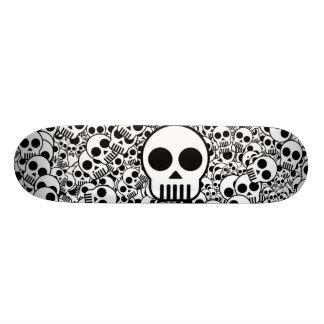 Schädel-Beschaffenheits-Schwarz-weiße Oberfläche Personalisierte Skateboards