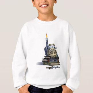 Schädel-Buch und Kerze Sweatshirt
