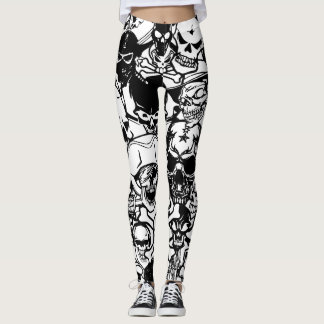 Schädel-Collage Leggings