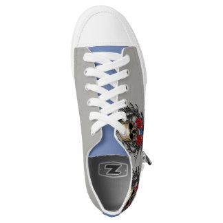 Schädel der Blumen-Schuhe Niedrig-geschnittene Sneaker