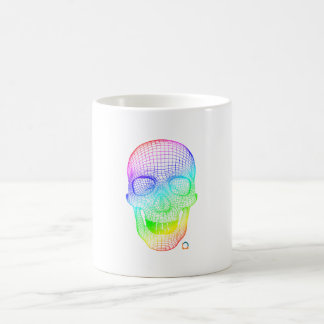 Schädel der Steigungs-3d Kaffeetasse