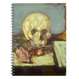 Schädel des Stillleben-w, Kerze, Buch durch Paul