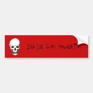 Schädel Dia de Los Muertos Autoaufkleber