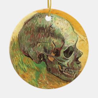 Schädel durch Vincent van Gogh, Vintager Keramik Ornament