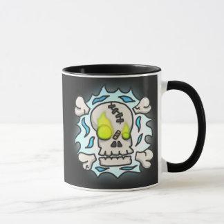 Schädel-Flammen-Tasse Tasse
