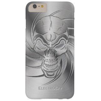 Schädel-Form-Druck auf gebürstetem Stahl Barely There iPhone 6 Plus Hülle