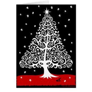 Schädel für Weihnachten Karte