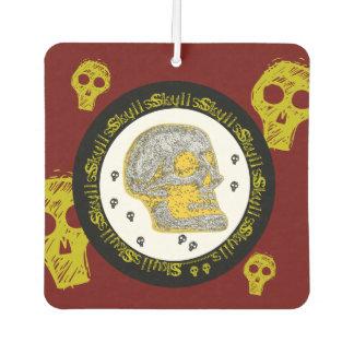 Schädel - Gelb/Weiß Autolufterfrischer