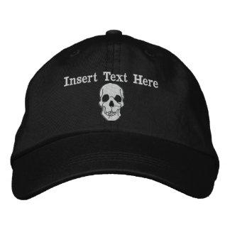 Schädel gestickter Hut Bestickte Caps