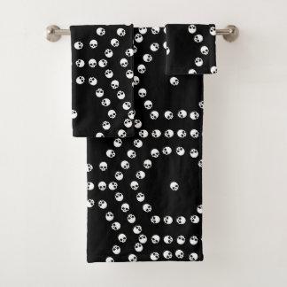 Schädel-Hexagon-Muster Badhandtuch Set