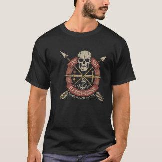 Schädel-Hipsterzeichen T-Shirt