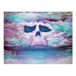 Schädel im Himmel Postkarte